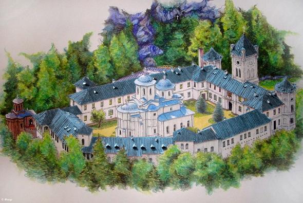 manastirea_tismana pictura