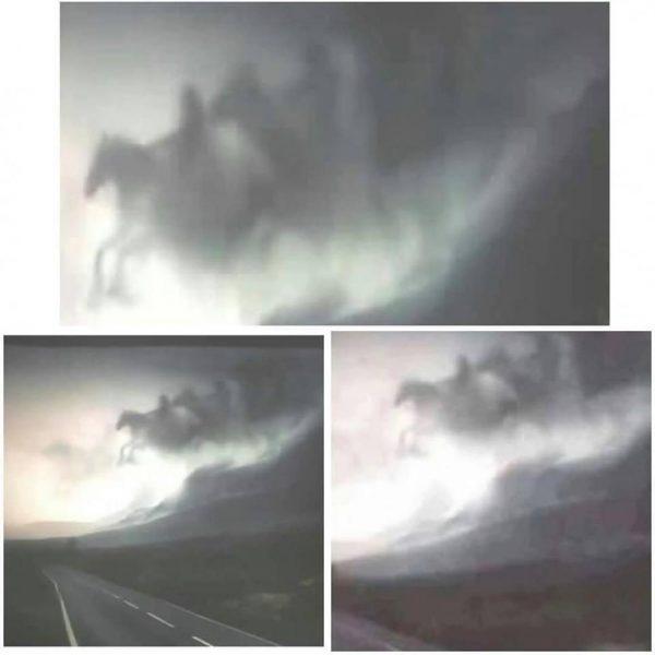 Imagini incredibile surprinse in Suceava! Cei patru călăreți ai Apocalipsei