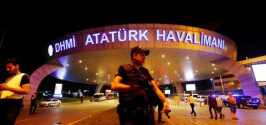 REFILE - QUALITY REPEAT A riot police officer stands guard at the entrance of the Ataturk airport in Istanbul, Turkey, following a multiple suicide bombing, early June 29, 2016. REUTERS/Murad Sezer