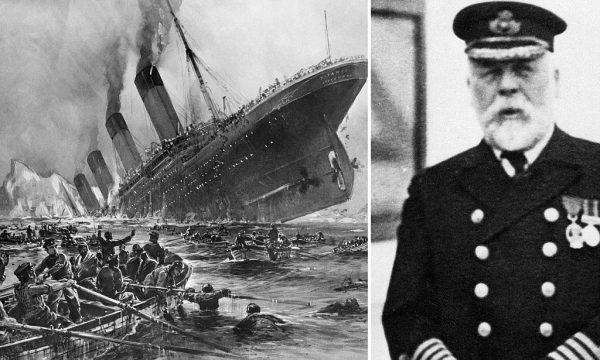 1932 --- Sinking of the Titanic by Willy Stoewer --- Image by Bettmann/CORBIS
