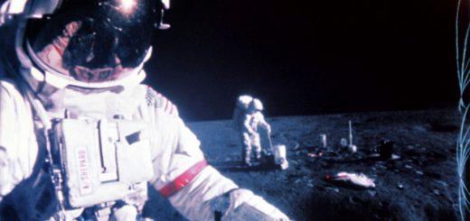 Picture taken during the Apollo 14 mission in February 1971 of US astronauts Alan Shepard (L, first row) and Edgar Mitchell (R). The Apollo XIV mission, the third mission to land on the moon, was launched on January 31, 1971 and landed on the moon on February 5, 1971. (Photo credit should read STF/AFP/Getty Images)